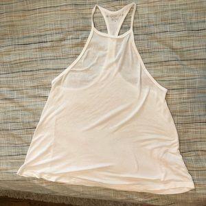 Beyond Yoga drapey white tank XS